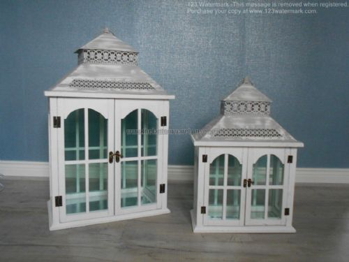 Rectangular Lantern with Double Doors (Set Of 2)
